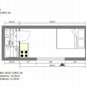 Kontener mieszkalny - BOZZ CONTI 2A