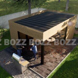 Wiata ogrodowa BOZZ GARD 1B-3